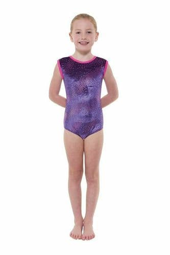 Tappers and Pointers Smooth Velvet Leotard Foil Print Gymnastics Acro Gym Dance